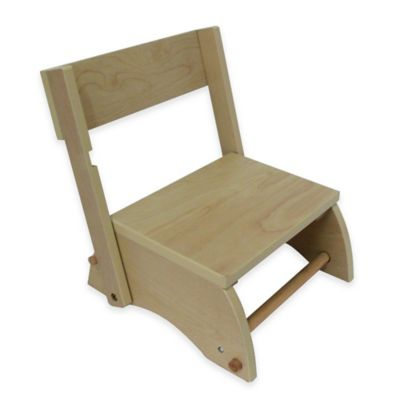 Teamson Kids Small Wooden Step Stool in Natural