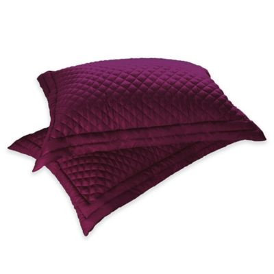Clean Living Diamond Water/Stain Resistant King Pillow Sham in Fig