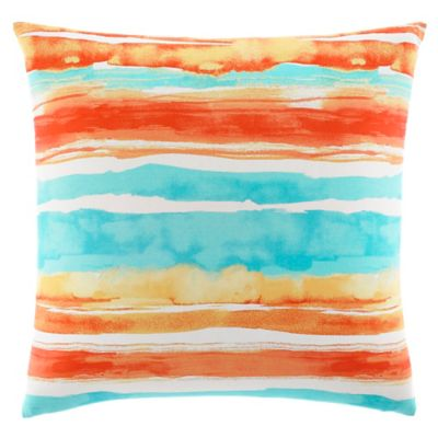 Tommy Bahama® Watercolor Stripe Square Throw Pillow