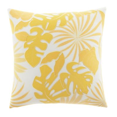 Tommy Bahama® Applique Palm Square Throw Pillow in Yellow