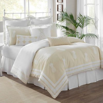 Southern Tide® Southern Hospitality Reversible King Comforter Set in Khaki/White