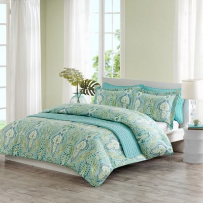Echo Design® Kelly Paisley King/California King Quilt Mini Set in Aqua Multi