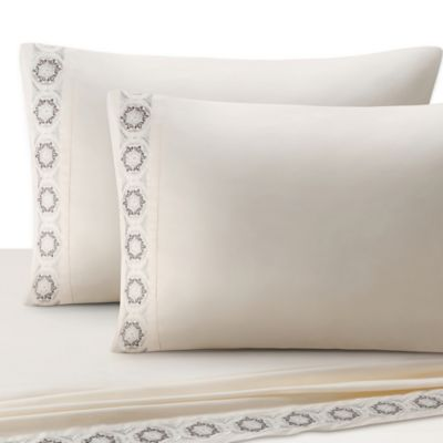 J. Queen New York™ Colette Full Sheet Set in Ivory