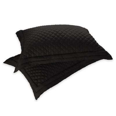Clean Living Diamond Water/Stain Resistant Standard Pillow Sham in Black