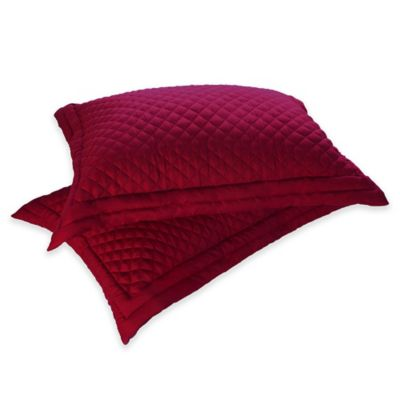 Clean Living Diamond Water/Stain Resistant King Pillow Sham in Red