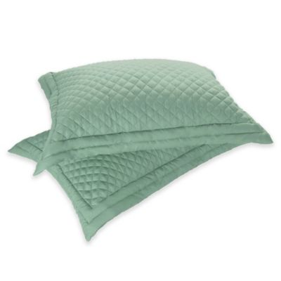 Clean Living Diamond Water/Stain Resistant Standard Pillow Sham in Sage