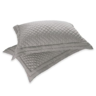 Clean Living Diamond Water/Stain Resistant Standard Pillow Sham in Silver