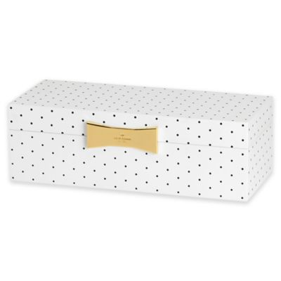 kate spade new york Garden Drive™ Rectangular Jewelry Box in Black Dot