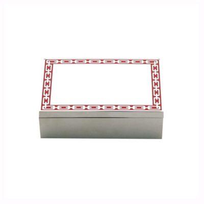 Reed & Barton® Silver Link Keepsake Box in Poppy