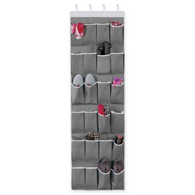 Studio 3B™ Over-the-Door 24-Pocket Shoe Organizer in Grey