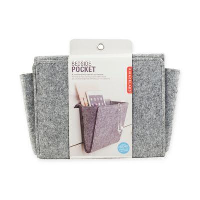 Bedside Felt Storage Pocket in Grey