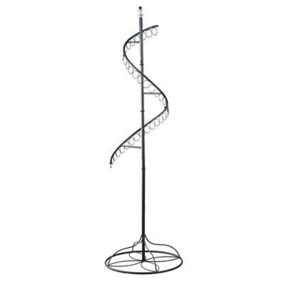Spinning Floor-Standing Scarf Rack in Black