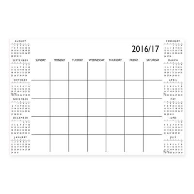 Dry-Erase 2016-2017 Academic Month Calendar in White with Dry-Erase Marker