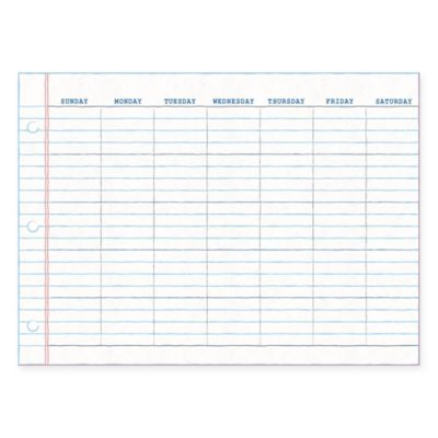 WallPops!® Dry-Erase Notepad Monthly Calendar in White with Dry-Erase Marker