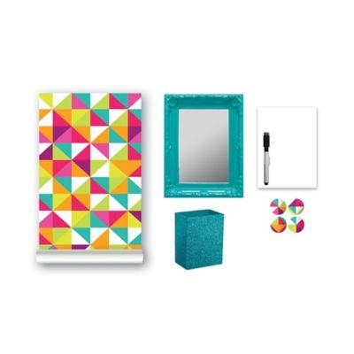 9-Piece Locker Accessory Kit in Multicolor Prism