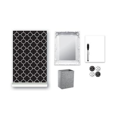 9-Piece Locker Accessory Kit in Black Bel-Air
