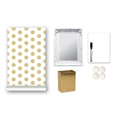 9-Piece Locker Accessory Kit in Gold Confetti