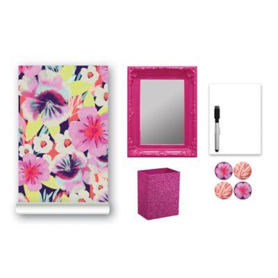 9-Piece Locker Accessory Kit in Pink Aloha