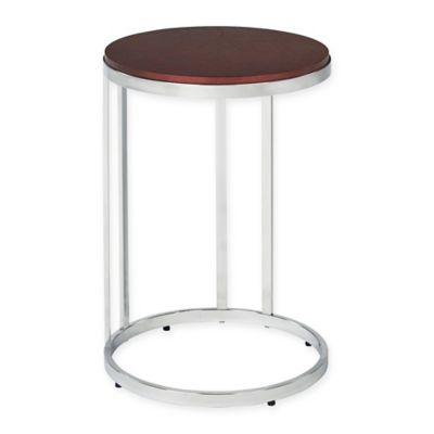 Alexandria Round Side Table in Cherry