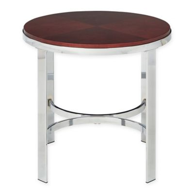 Alexandria Round End Table in Cherry
