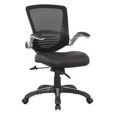 Manhattan Comfort Ergonomic Walden Faux Leather Office Chair in Black