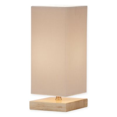 Adesso Angelina Table Lantern in Natural with Fabric Shade