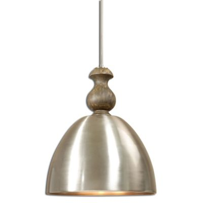 Uttermost Luna 3-Light Pendant in Aluminum