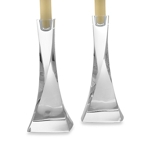 Nambe Piroette 8-Inch Candlesticks (Set of 2)