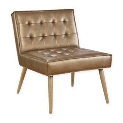 Amity Tufted Accent Chair in Sizzle Copper