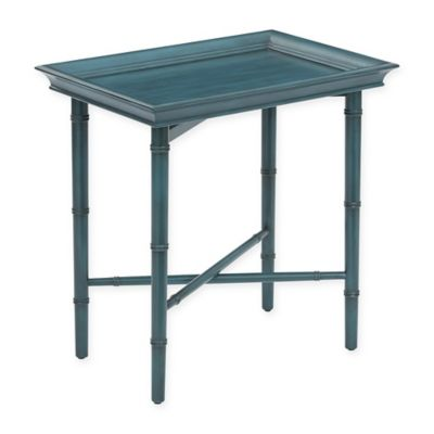 Office Star® Products Salem Folding Serving Tray in Blue