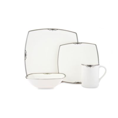 Mikasa® Platinum Ribbon 4-Piece Place Setting Dinnerware