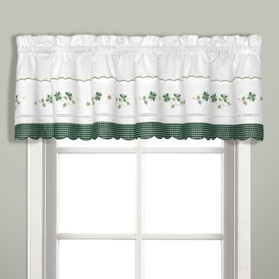 Black Pattern Valance