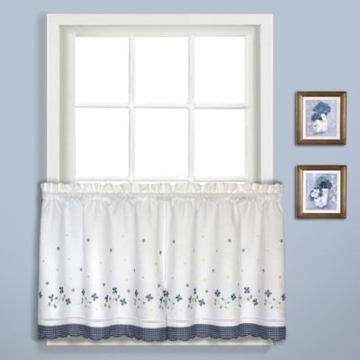 Gingham 36-Inch Window Curtain Tier Pair in Blue