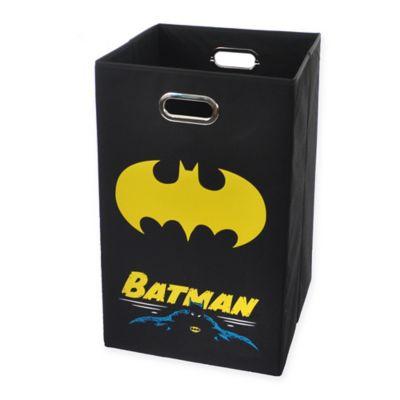 Modern Littles Batman Graphic Folding Laundry Basket in Black