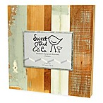 Sweet Bird & Co. 5-Inch x 7-Inch Reclaimed Wooden Photo Frame in Blue Whisper