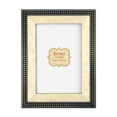 Eccolo® 5-Inch x 7-Inch Gold Onlay Frame in Navy Houndstooth