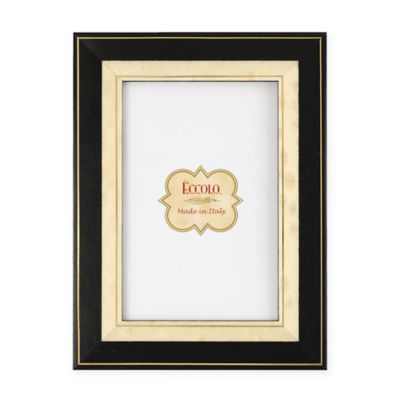 Eccolo™ 4-Inch x 6-Inch Gold-Bordered Onlay Frame in Black