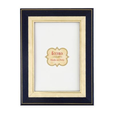 Eccolo 5-Inch x 7-Inch Gold/Navy Bordered Frame