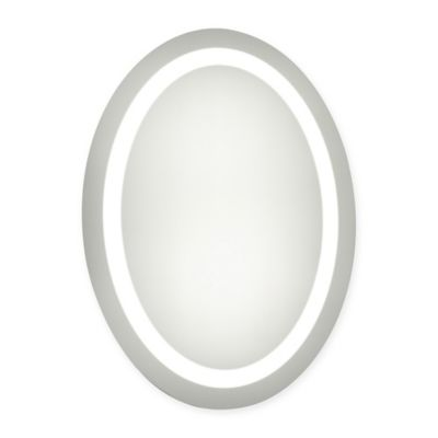 21-Inch x 28-Inch Oval LED Electric Mirror