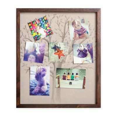 Umbra 10-Photo Linen Family Tree Collage Frame in Walnut