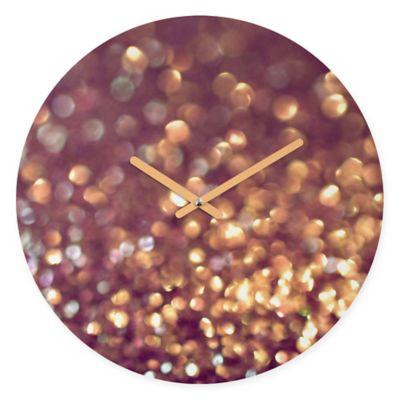 DENY Designs Lisa Argyropoulos Mingle 1 Round Wall Clock