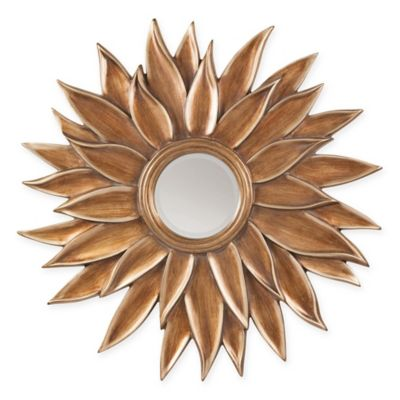 Office Star® Products 39.5-Inch Orleans Sun Flower Mirror in Gold