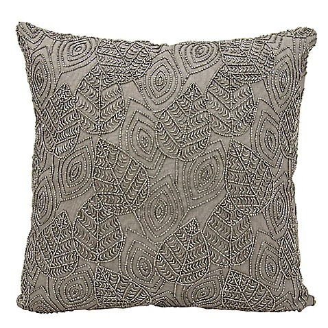 Michael Amini Leaves Square Throw Pillow - www.BedBathandBeyond.com