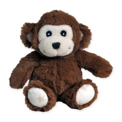 cloud b® Hugginz Monkey Plush Rattle in Brown