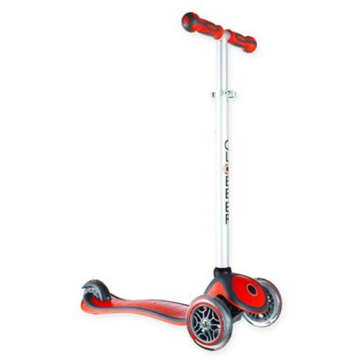 Globber Scooters 3-Wheel Adjustable Scooter in Red