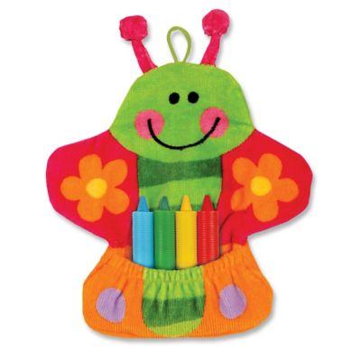 Stephen Joseph Butterfly Bath Mitt with Crayons