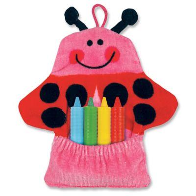 Stephen Joseph Ladybug Bath Mitt with Crayons