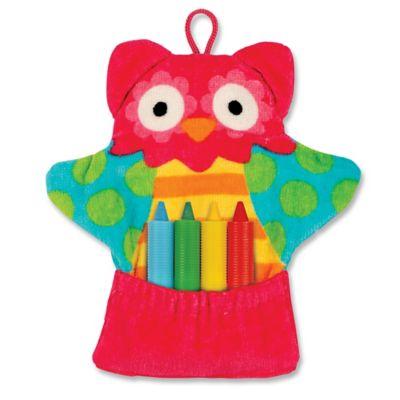 Stephen Joseph Owl Bath Mitt with Crayons