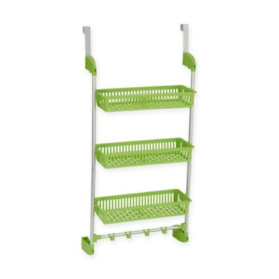 Household Essentials® 3 Basket Over-the-Door Organizer in Lime