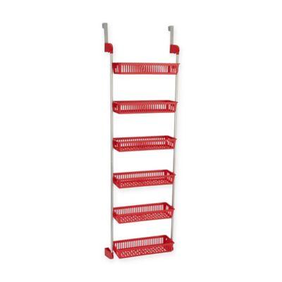 Household Essentials® 6 Basket Over-the-Door Organizer in Red